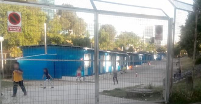 Centro de acogida para familias inmigrantes de San Roque, Madrid.