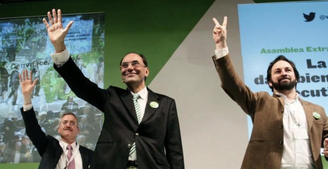 José Antonio Ortega Lara, Alejo Vidal-Quadras y Santiago Abascal en una imagen de archivo. EFE