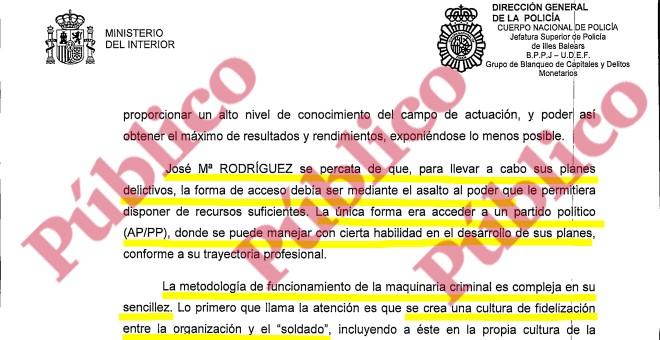 El modus operandi del hombre fuerte del PP en Baleares, según la UDEF.