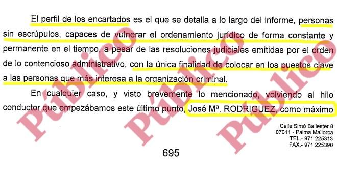 El perfil de los encartados en la organización criminal mafiosa del PP Balear, según el informe del Grupo de Blanqueo de la UDEF.