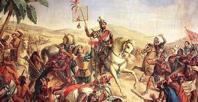 Resultado de imagen de conquista española de mejico