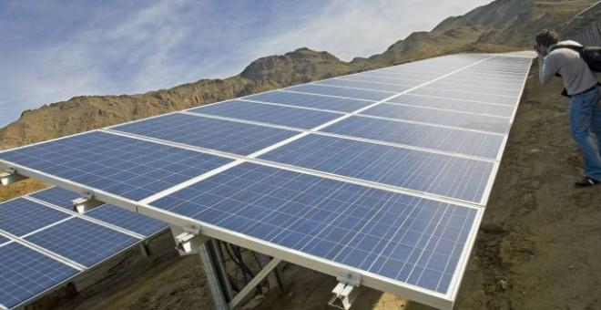 Planta solar fotovoltaica en Rioja (Almería). EFE