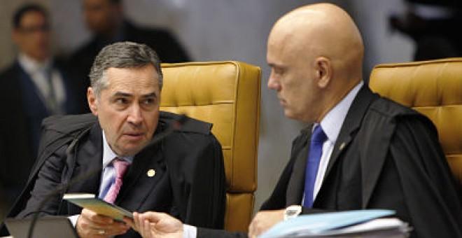 El juez Celso de Mello, del Tribunal Supremo, emitiendo su voto en una de las causas, de la que además es relator. Rosinei-Coutinho/SCO/STF