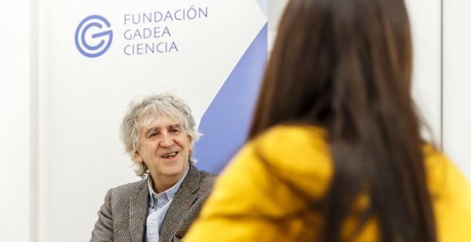 Juan Luis Arsuaga responde a las preguntas de Sinc. / Álvaro Muñoz Guzmán (SINC)