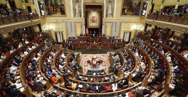 Vista general del hemiciclo durante la sesión constitutiva del Congreso de la XIII Legislatura. EFE/Javier Lizón