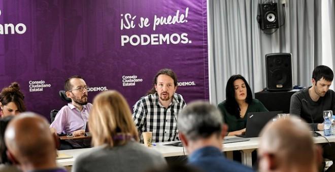 Pablo Iglesias durante una intervención en un Consejo Ciudadano Estatal de Podemos / Daniel Gago - Podemos
