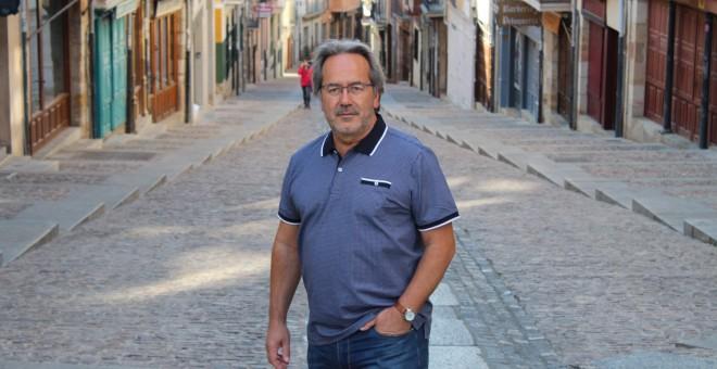 Paco Guarido, en la calle Balborraz de Zamora.