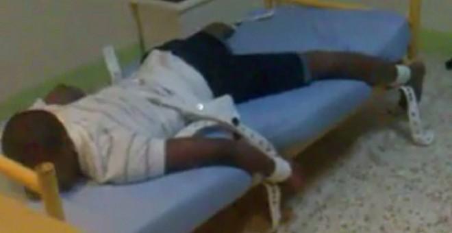Captura del vídeo que denuncia los maltratos a internos en el centro de menores Tierras de Oria de Almería.