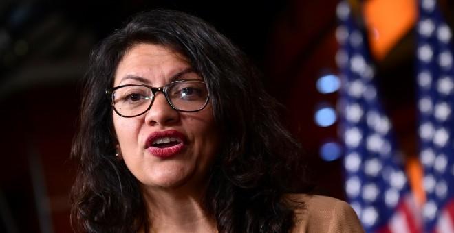 15.07.2019. / Rashida Tlaib habla durante la conferencia de Demócratas en el Congreso de Estados Unidos. REUTERS/Erin Scott