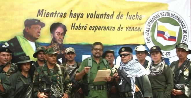 El ex número dos de las FARC, 'Iván Márquez' durante el vídeo en el que anuncia la vuelta a la lucha armada en Colombia.-