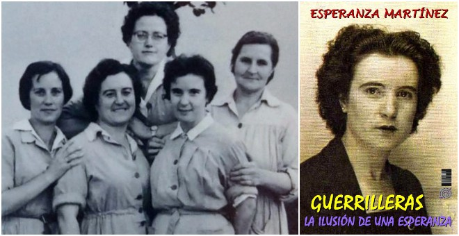 Sole (segunda por la derecha), en la cárcel de Alcalá, en 1961. Portada de la autobiografía de Esperanza Martínez.