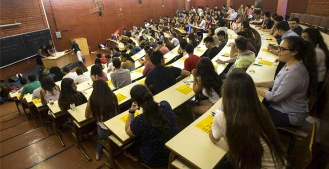 Una clase de una universidad. EFE