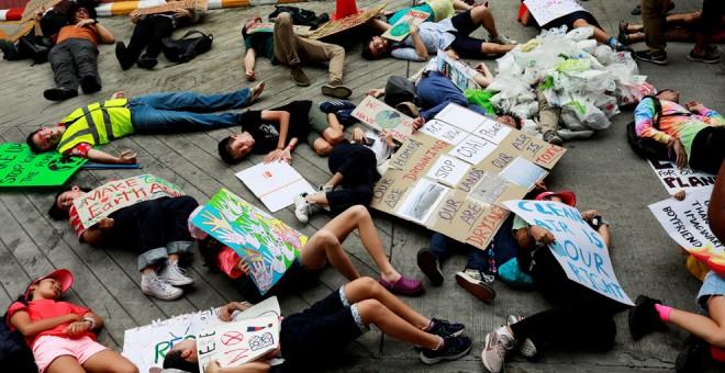 20-09-2019.- Protestas ecologistas en Bangkok, Tailandia. REUTERS/Soe Zeya Tun