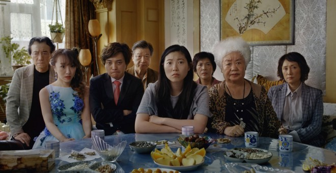 Toda la familia de 'The Farewell'.