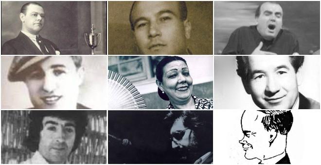 José Cepero, el Chaqueta, Paco Moyano, Corruco de Algeciras, Niña de los Peines, Juanito Valderrama, el Piki, Luis Marín y Chato de Ventas.