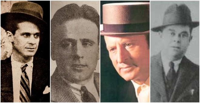 Los cantaores flamencos Carbonerillo, Manuel Vallejo, Angelillo y Chaconcito.