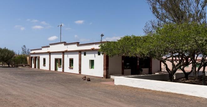 Vista actual del Albergue en Tefía donde se ubicaba el campo de concentración en 1955. Cabildo de Fuerteventura