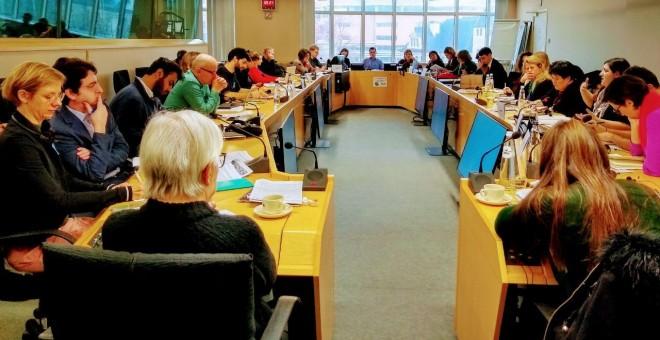 Vista de la jornada de debate en el Parlamento Europeo sobre la financiación europea al sector de la defensa.
