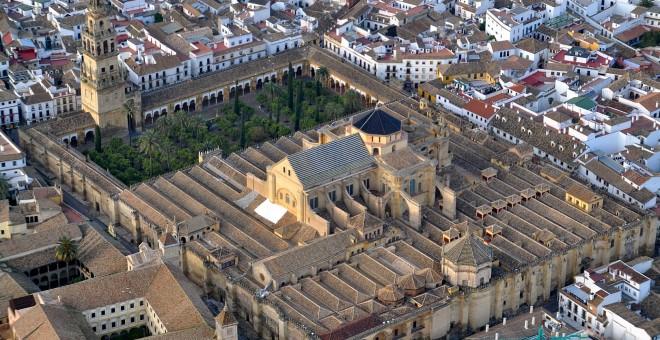 Vista de la Mezquita de Córdoba desde el aire. WIKIPEDIA
