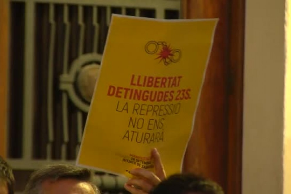 Concentración de protesta por el encarcelamiento de los CDR en Sabadell