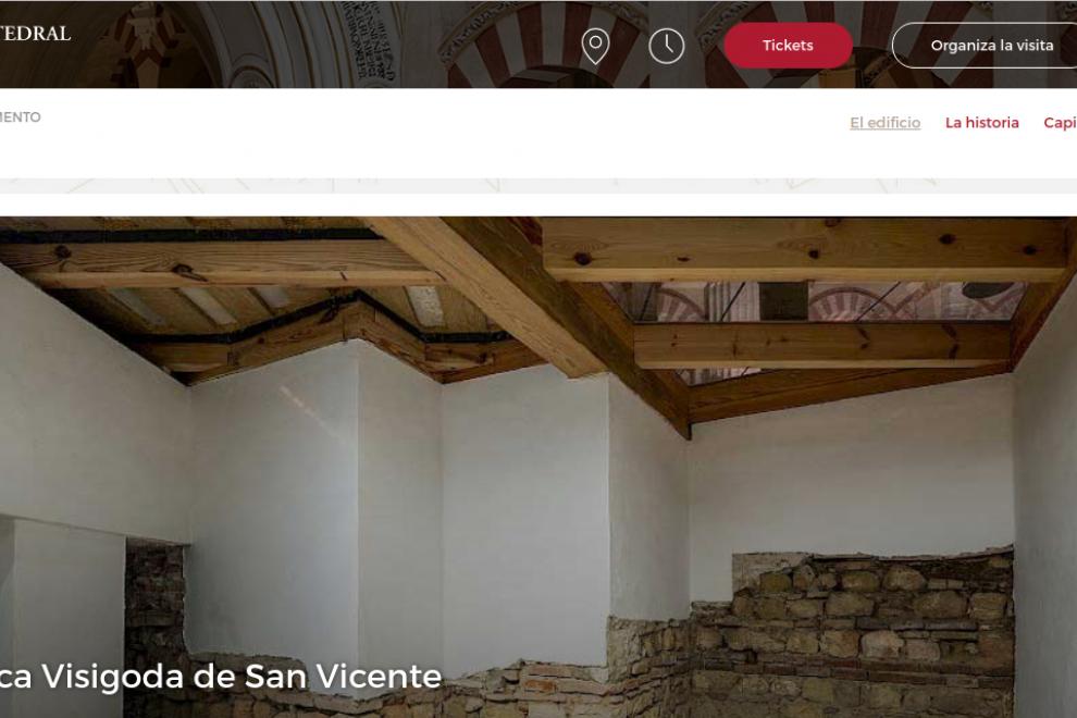Apartado dedicado a la basílica en la web oficial de la Mezquita Catedral.