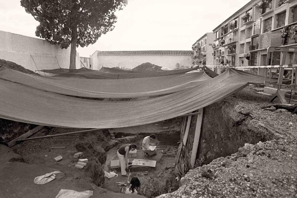 Fotografía de la exhumación en la Puebla de Cazalla.- ARCHIVO DE JUAN MANUEL GUIJO
