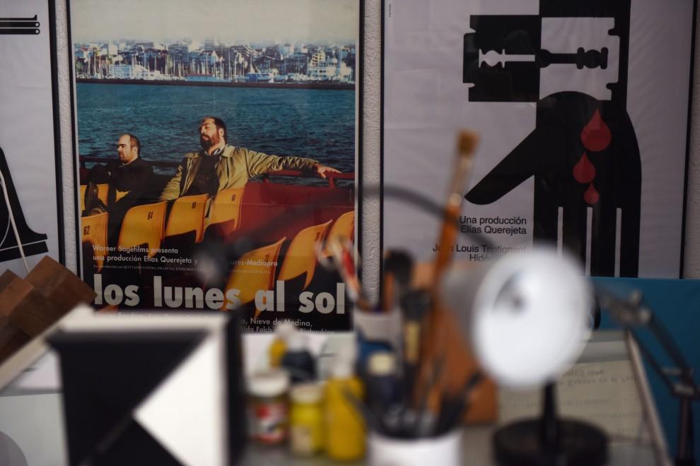 Estudio del diseñador José María Cruz Novillo. / FERNANDO SÁNCHEZ