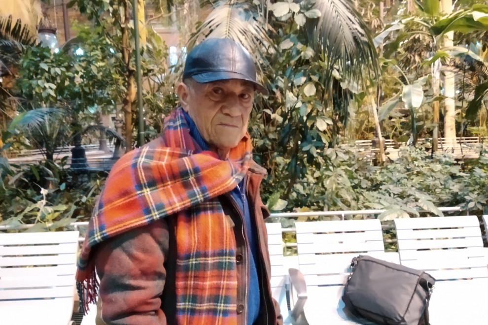 Germán, en la estación de Atocha. / H.M.