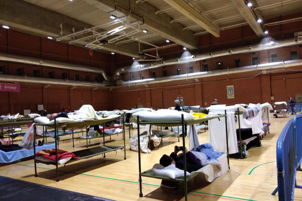 Imagen del albergue habilitado para acoger a personas sin hogar, durante el estado de alarma por la pandemia del coronavirus.
