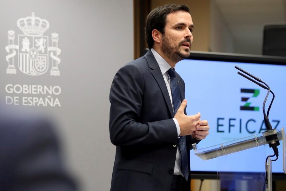 El ministro de Consumo, Alberto Garzón, / EFE