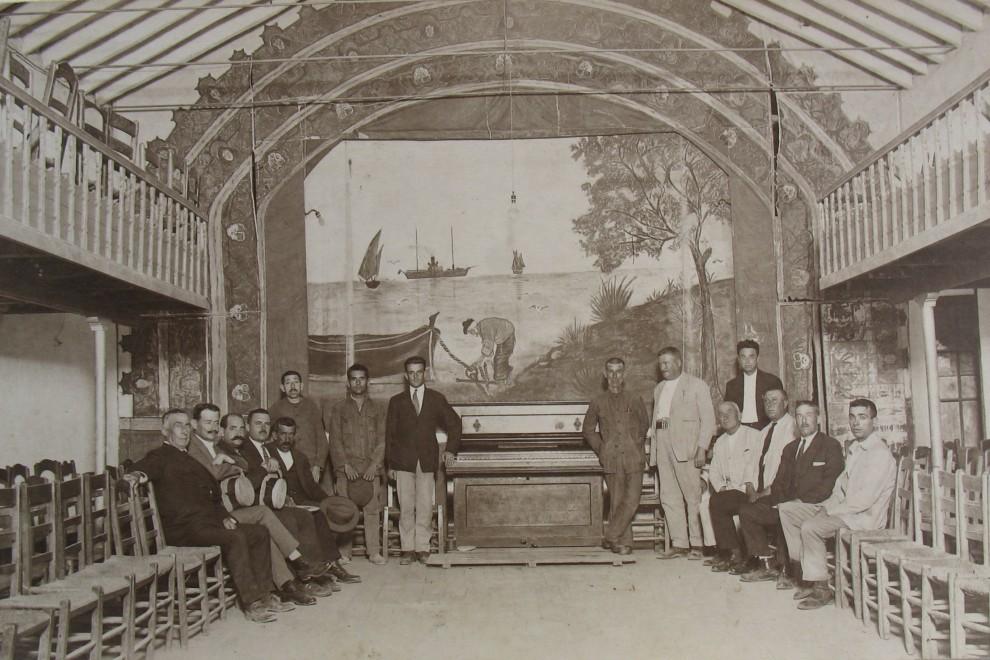 Salón de actos en la planta alta de la sede de 'La Cultura' / Archivo Fernando Romero