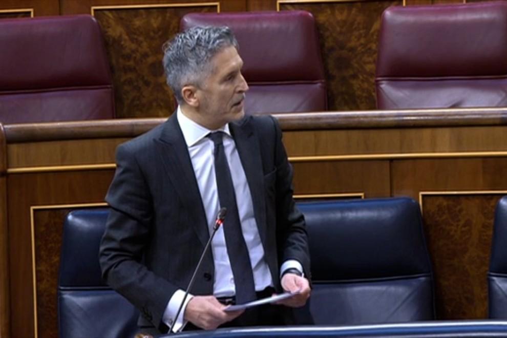 """Marlaska cita a Rubalcaba contra las """"infamias"""" de Vox"""