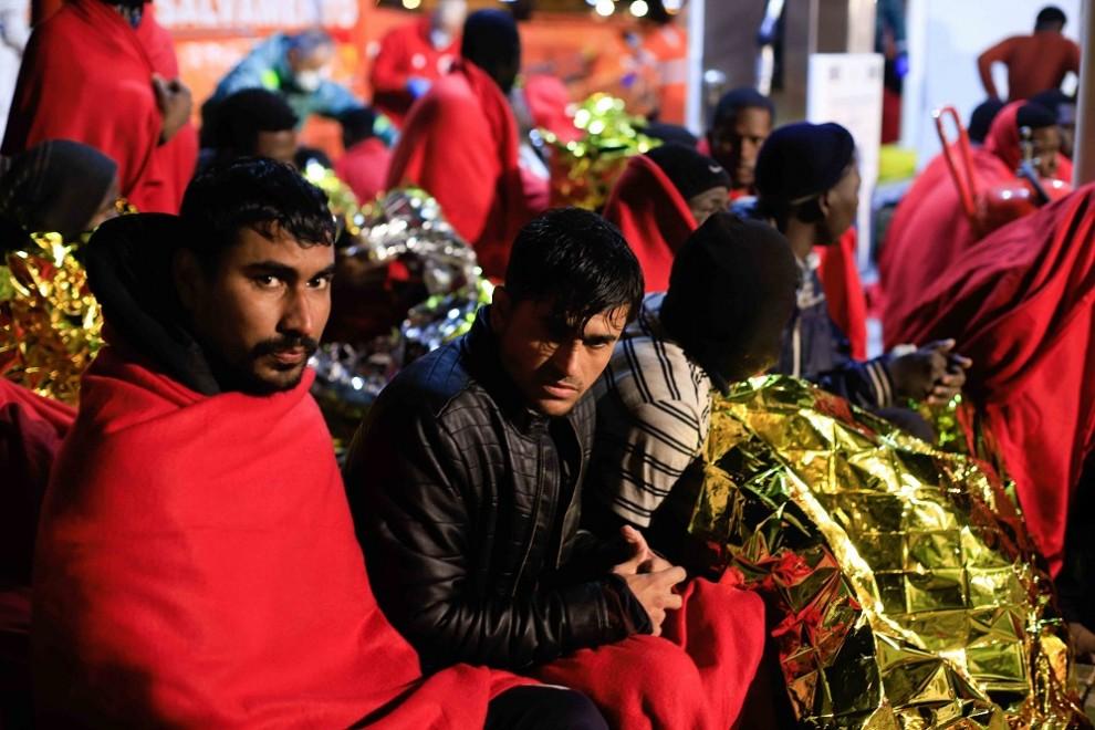 Imagen de archivo de unos migrantes recién llegados a España. EUROPA PRESS/Cristian Calvo.