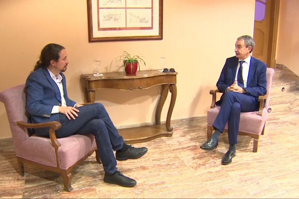 Reunión entre Pablo Iglesias y José Luis Rodríguez Zapatero