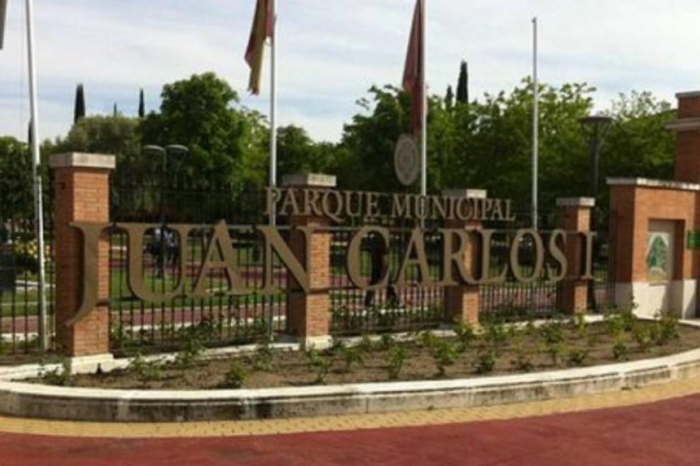 Entrada del parque Juan Carlos I en Pinto