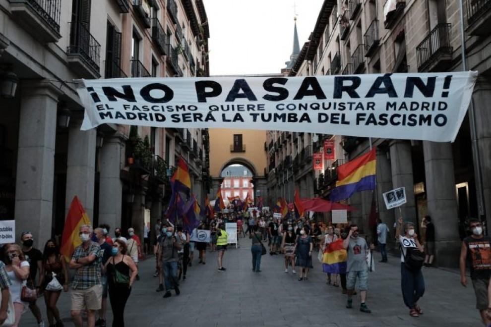La manifestación republicana del 25J en Madrid.