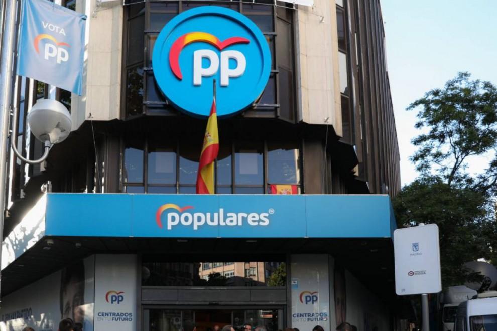 Sede del PP en la calle Génova de Madrid. / Jesús Hellín/Europa Press