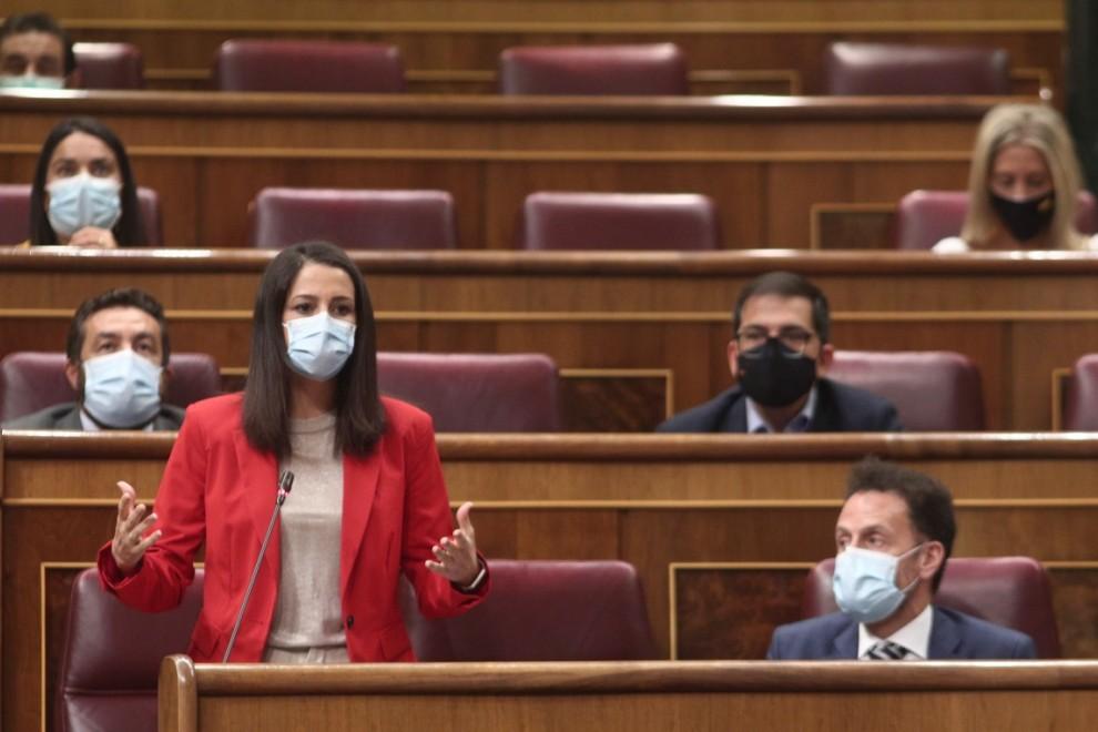 La líder de Cs, Inés Arrimadas, interviene en la primera sesión de control al Gobierno en el Congreso, en Madrid. EUROPA PRESS/E. Parra. POOL
