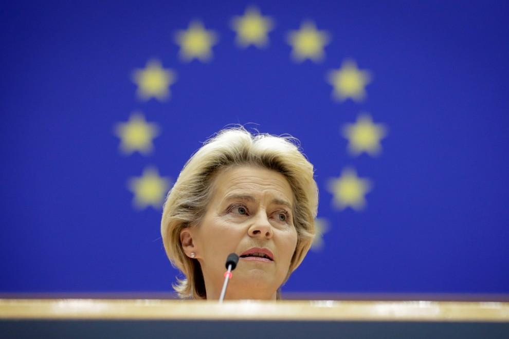 La presidenta de la Comisión Europea, Ursula von der Leyen. REUTERS/Olivier Hoslet