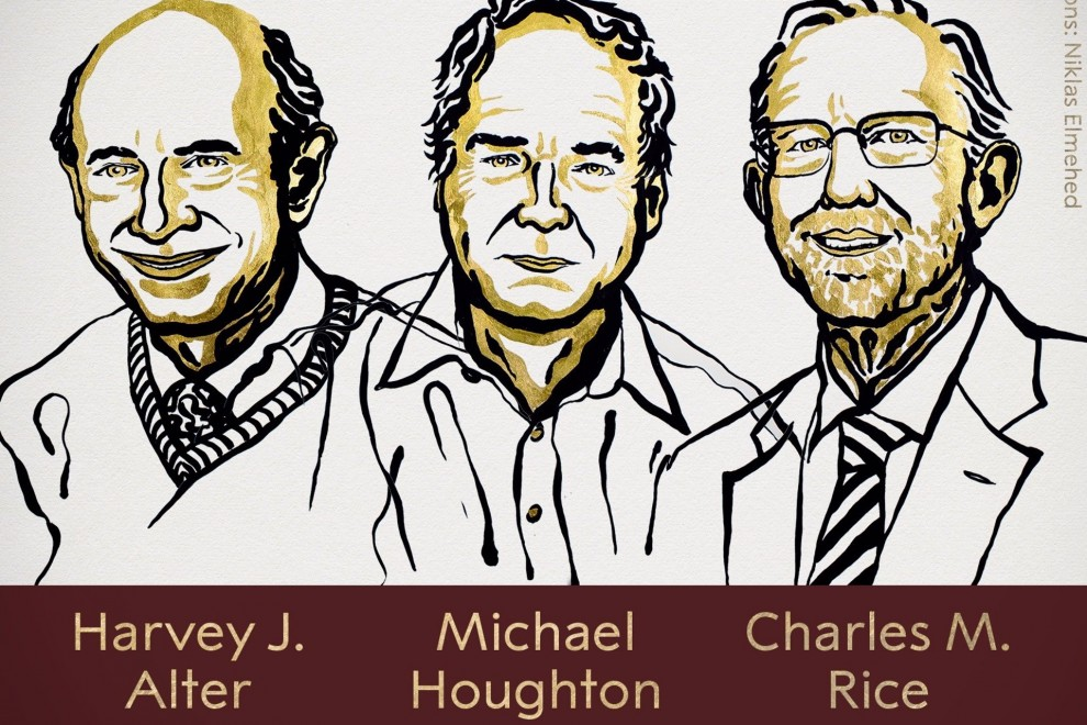 Harvey J. Alter, Michael Houghton y Charles M. Rice, Premio Nobel de Medicina 2020. / THE NOBEL PRIZE