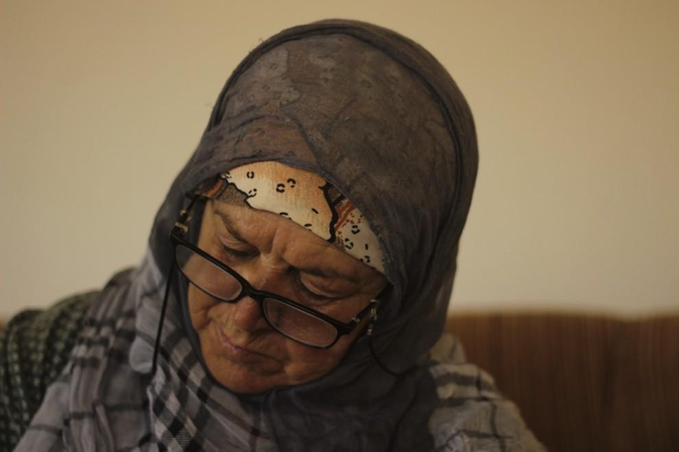 Karemeh Ahmad en su casa de Dayr al-Sudan, 16 de agosto de 2019. / Marta Saiz