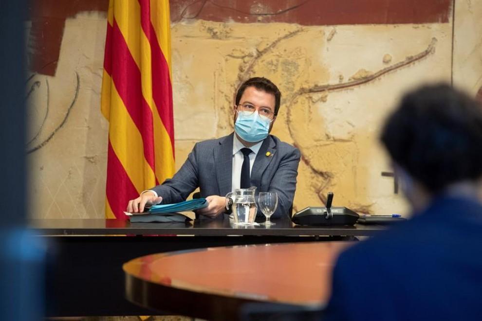 El vicepresidente de Generalitat y presidente interino, Pere Aragonés / EFE