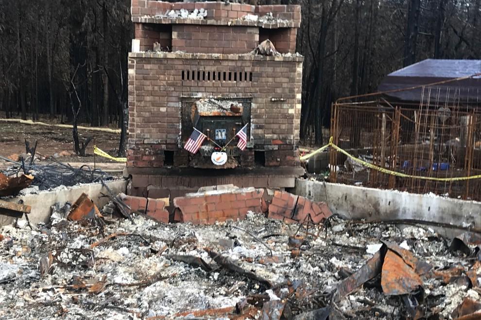 El incendio de Camp que devastó el condado de Butte en el año 2018 fue el que mayores daños causó en la historia de California. Foto cedida por Brennan Banks, CDP.