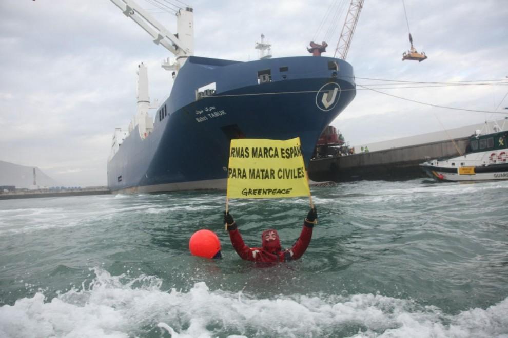 Greenpeace en el puerto de Bilbao