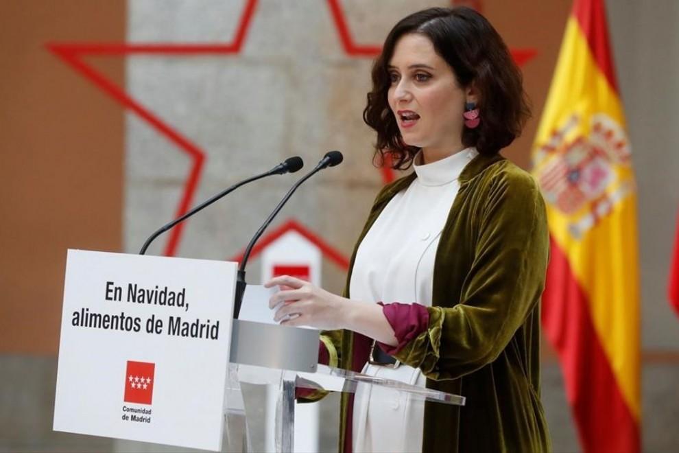 La presidenta de la Comunidad de Madrid, Isabel Díaz Ayuso, tras anunciar la ampliación de los conciertos educativos.