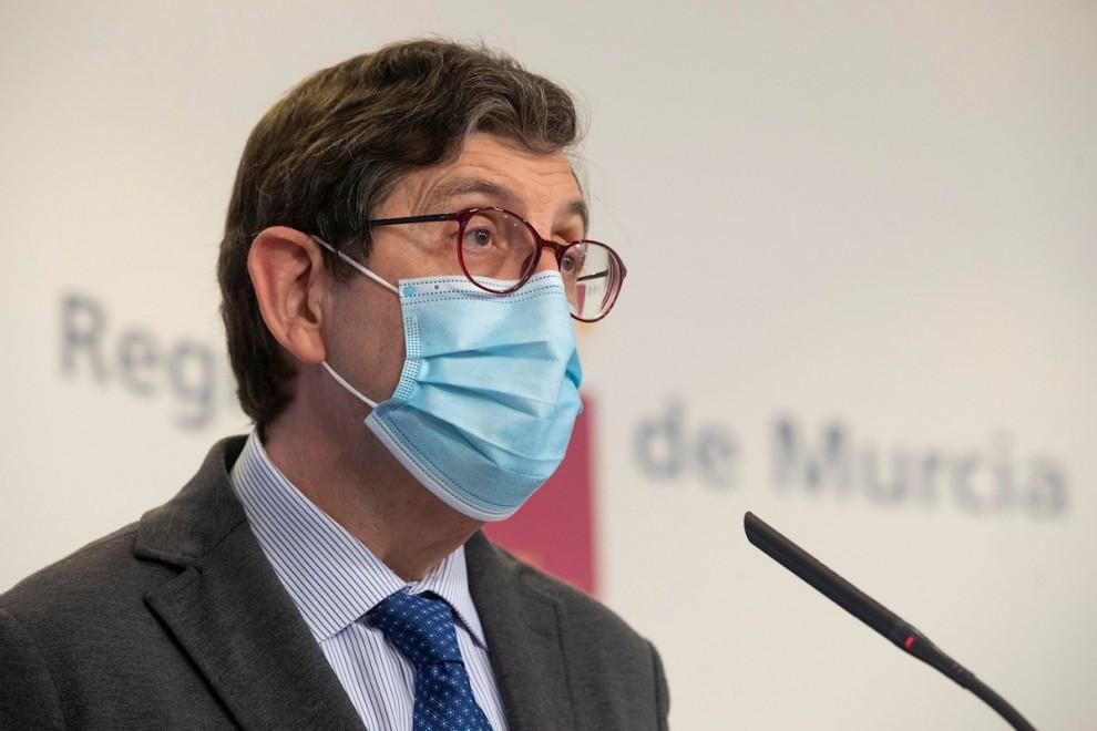 El consejero de Salud de la Comunidad de Murcia, Manuel Villegas, en una imagen de archivo.