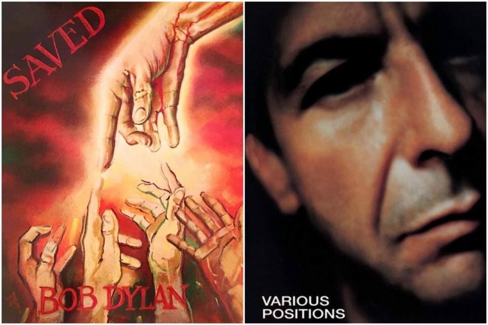 Los discos 'Saved', de Bob Dylan, y 'Various Positions', de Leonard Cohen.
