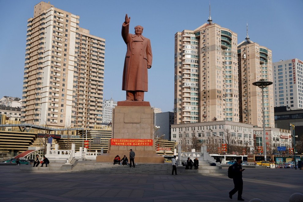 Estatua de Mao Zedong, en China.