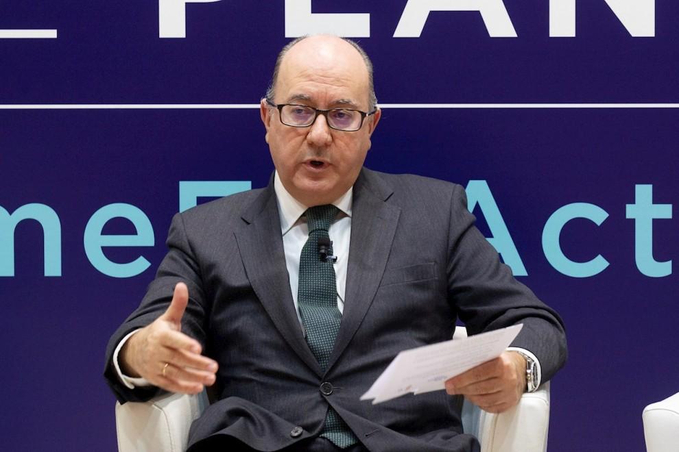 El presidente de la Asociación Española de Bancos (AEB), José María Roldán. EFE/Javier Liaño