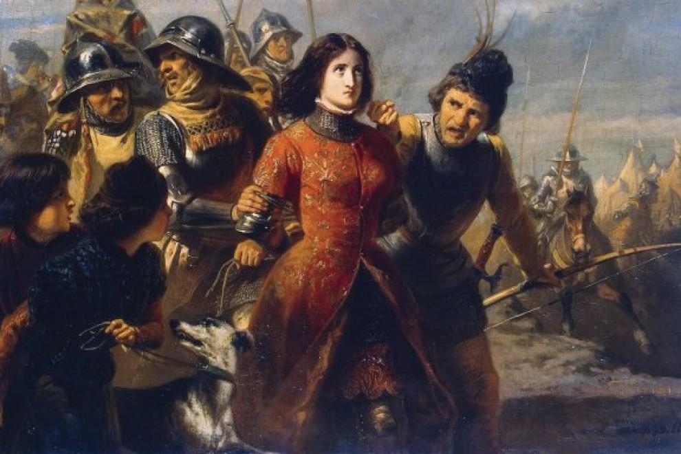 Cuadro donde aparece retratada Juana de Arco.